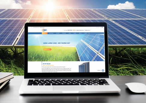 Website năng lượng mặt trời STP Solar